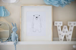 Boris (Original) Illustration - Scandinavian Bear Print
