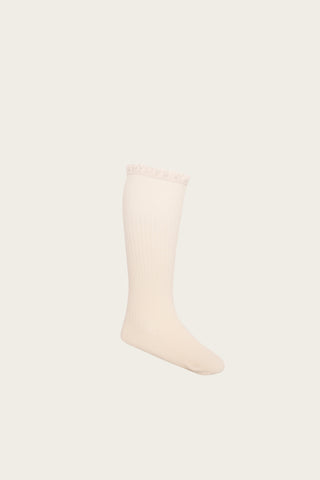 Jamie Kay Frill Sock - Peach Dust