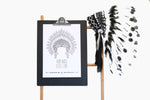 Headdress Print - Run Wild Little One
