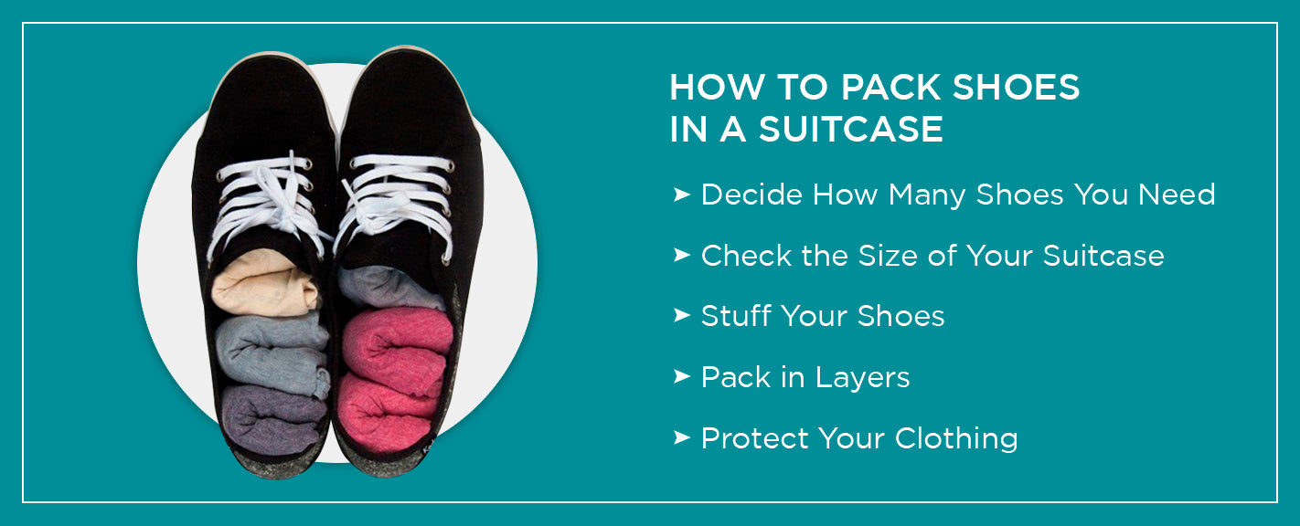how to pack shoes in a suitcase