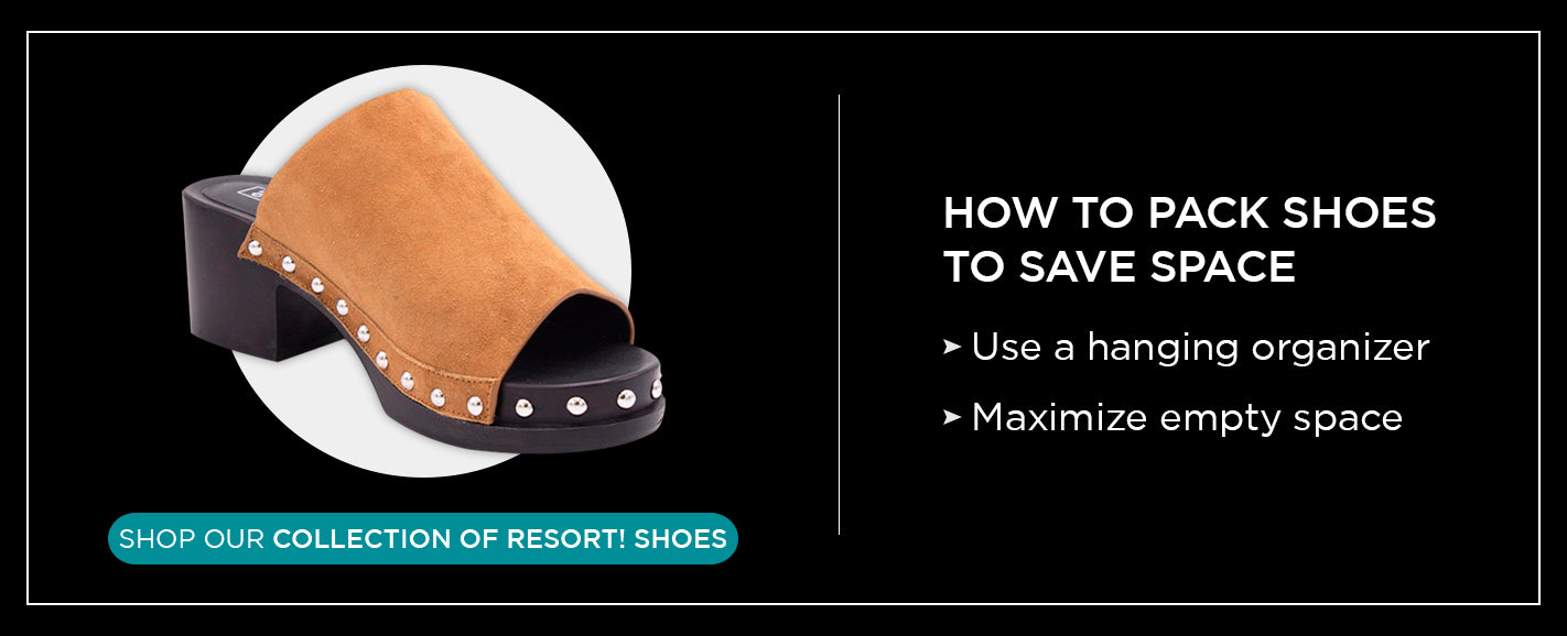 how to pack shoes to save space