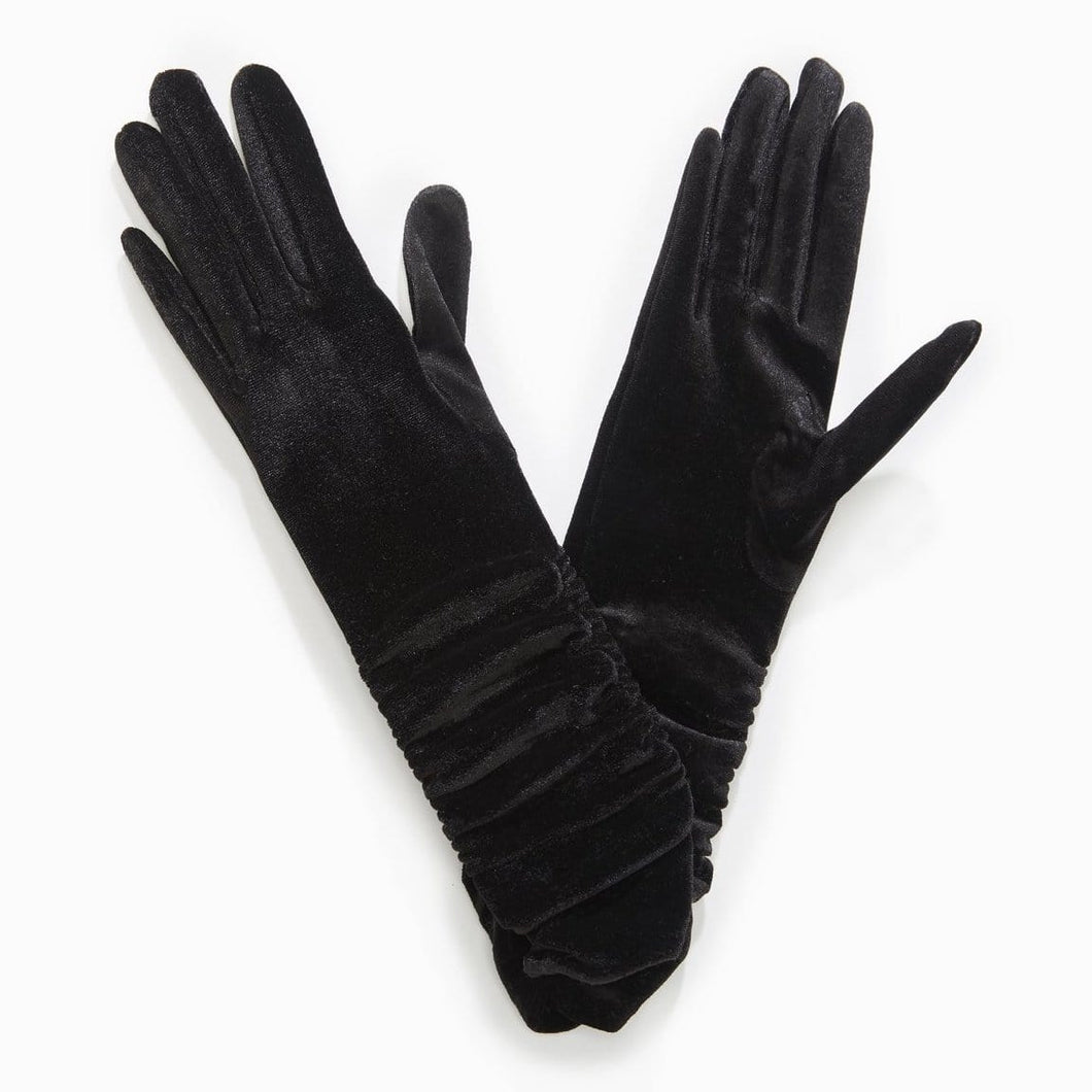 Basic Velvet Extra Long Gloves
