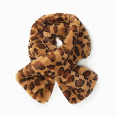 Leopard Fur Key Hole Scarf