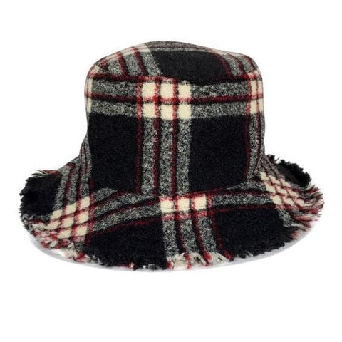 Flannel Plaid Bucket Hat