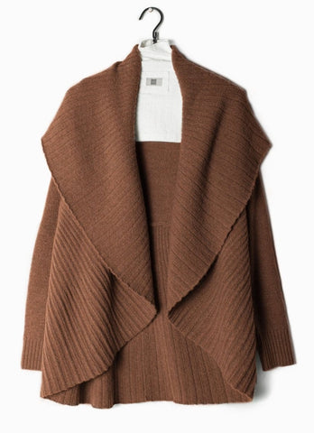 Heather Pleats Shawl Cardigan