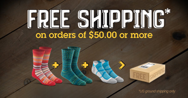 Free Shipping on orders of $50.00 or more.