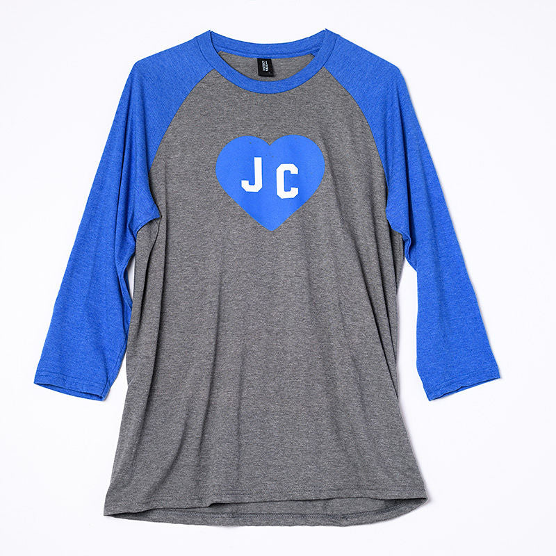 9eba587eb JC Heart Baseball Style T-Shirt, Unisex Dark Grey/Royal Blue - Grace ...