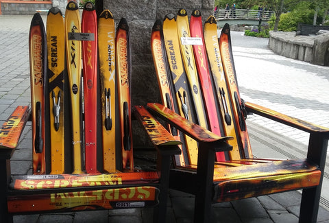 Attrayant Check Out The Ski Heaven Love Bird Ski Chairs Made From 20 Warm Tone  Saloman Skis. Add Something Unexpected And Exceptionally Comfortable To  Your Back Deck.