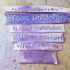 Alison Wonderland Jewelry custom type faces