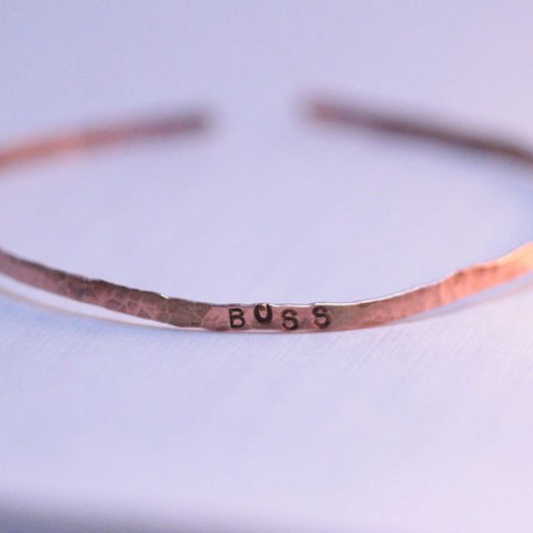 Bangle Bracelet | The Boss | Copper Cuff Bracelet