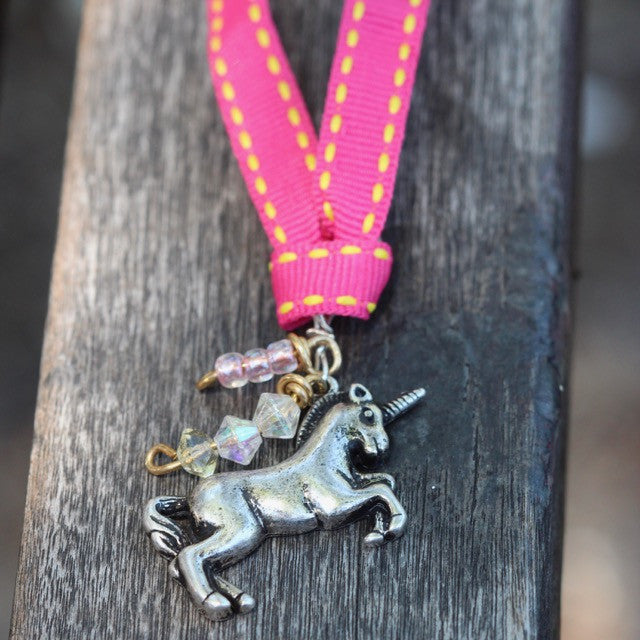 Pink Magic Unicorn Necklace