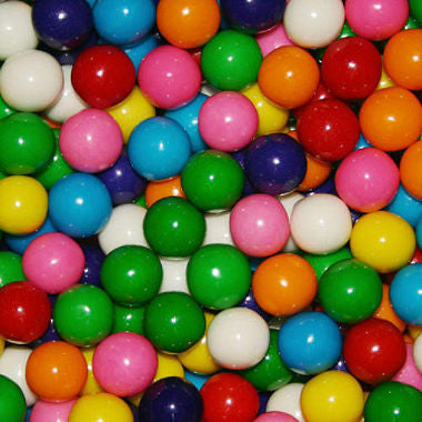 "Double Bubble Assorted Gumballs 1/4"" 8500 Count Bulk"