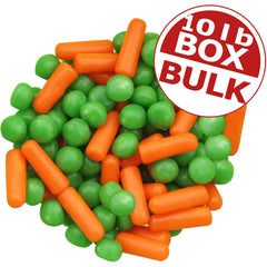 Peas & Carrots Mellocreme Candy - 10 lbs bulk
