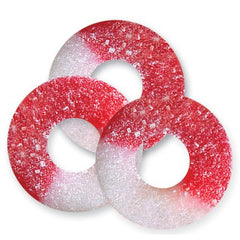 Cherry Red & White Gummi Rings 4.5LBS