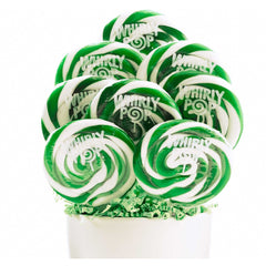 "Whirly Pops Green / White 3"" 1.5 Oz 60 Count"