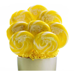 "Whirly Pops Yellow / White 3"" 1.5 Oz 60 Count"