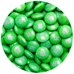 Bulk Green M&M's 5lbs mandms ColorWorks mymms