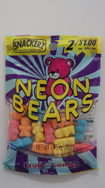 Sour Neon Bears 2/$1 (12 Count)