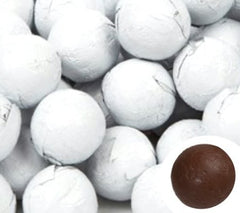 White Chocolate Foil Balls 10LB Bulk