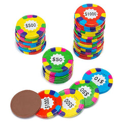 Milk Chocolate Assorted Poker Chips 10LB Bulk