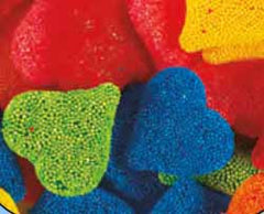 Colorful Crunchy Gummi Hearts Assorted