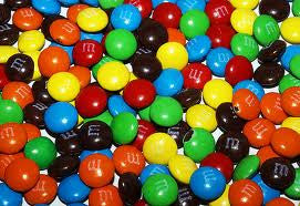 M&M Minis 25LB Bulk  Mini SIZE M&M's