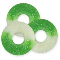 Apple (Green & White) Gummi Rings 4.5LBS