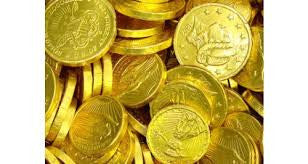 Milk Chocolate Gold Coins Assorted 10LB Bulk