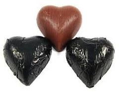 Black Chocolate Foil Hearts 10LB Bulk