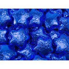 Blue Chocolate Stars 5LB Bulk