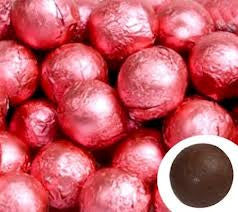 Bright Pink Chocolate Foil Balls 10LB Bulk