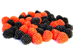 Gummi Raspberries & Blackberries 10LB Bulk