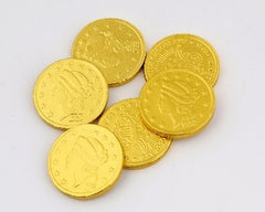 "Milk Chocolate Gold Coins 1 1/2th"" Large 10LB Bulk"