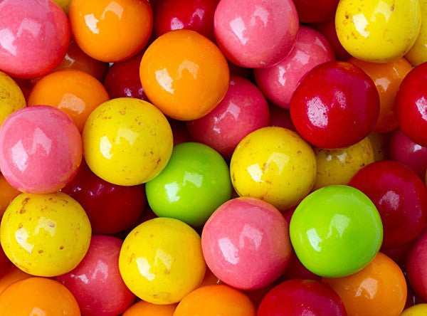 "Fantastic Fruit Gumballs 1"" 850 Count Bulk"
