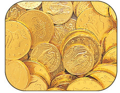 Milk Chocolate - Mint Blank Gold Coins - Large 10LB Bulk