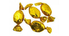 Strawberry Gold Foil Hard Candies 5LB Bulk