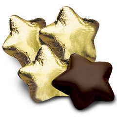 Gold Chocolate Stars 5LB Bulk