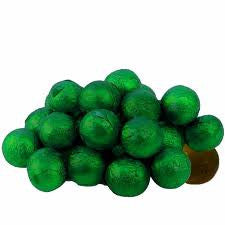 Green Chocolate Foil Balls 10LB Bulk