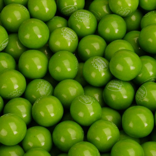 "Green Apple Gumballs 1"" 850 Count Bulk"