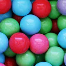 "Sour Cotton Candy Gumballs 1"" 850 Count Bulk"