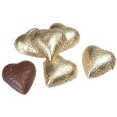 Milk Chocolate Gold Hearts 10LB Bulk
