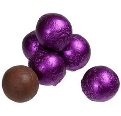 Purple Chocolate Foil Balls 10LB Bulk
