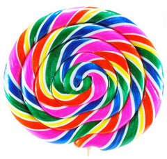 "Whirly Pops, Rainbow 9"" 24 Oz 10 Count"