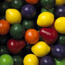 "Colossal Fruit Gumballs 2"" 138 Count Bulk"