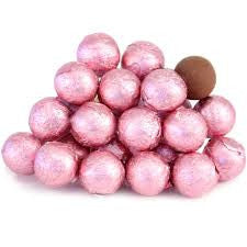 Light Pink Chocolate Foil Balls 10LB Bulk