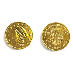 "Milk Chocolate Gold Coins 1"" Small 10LB Bulk"