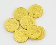 "Milk Chocolate Gold Coins 1 1/4th"" Medium 10LB Bulk"