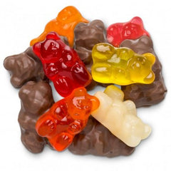 6 Flavor Chocolate Covered Flavored Gummi Bears 2.5  lbs