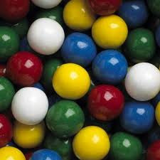 Assorted Mouthfull Unfilled Gumballs 138 Count