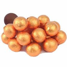 Orange Chocolate Foil Balls 10LB Bulk
